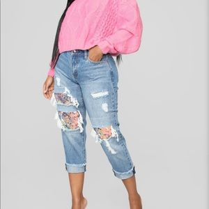 Nwt sequin embellished boyfriend jeans 5